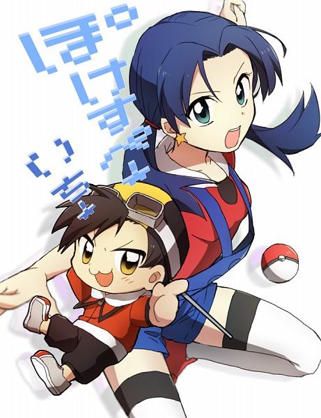 Tags: Anime, Minthama, Pokémon SPECIAL, Pokémon Gold & Silver, Pokémon, Kris (Pokémon), Crystal (Pokémon SPECIAL), Hibiki (Pokémon), PNG Conversion