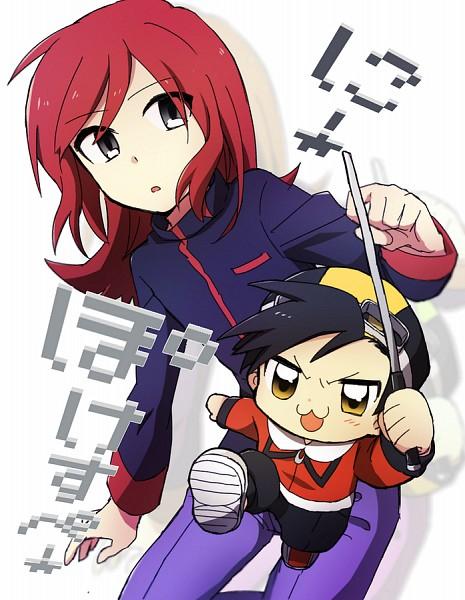 Tags: Anime, Minthama, Pokémon SPECIAL, Pokémon Gold & Silver, Pokémon, Silver (Pokémon SPECIAL), Gold (Pokémon SPECIAL), PNG Conversion