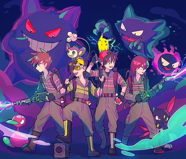 Tags: Anime, Itome, Pokémon SPECIAL, Ghostbusters, Pokémon, Silver (Pokémon SPECIAL), Gengar, Gold (Pokémon SPECIAL), Porygon2, Gastly, Sneasel, Green Oak (Pokémon SPECIAL), Pikachu, Pokémon Adventures