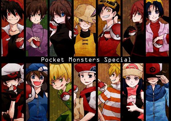 Tags: Anime, Umeco, Pokémon SPECIAL, Pokémon, Platinum Berlitz, Gold (Pokémon SPECIAL), Diamond (Pokémon SPECIAL), Odamaki Sapphire, Black (Pokémon SPECIAL), Ruby (Pokémon SPECIAL), Blue (Pokémon SPECIAL), Crystal (Pokémon SPECIAL), Green Ookido (Pokémon SPECIAL), Pokémon Adventures
