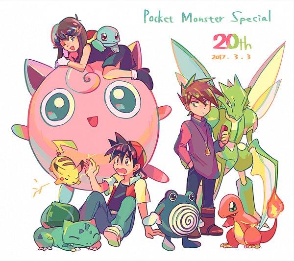 Tags: Anime, Itome, Pokémon SPECIAL, Pokémon, Red (Pokémon SPECIAL), Jigglypuff, Charmander, Scyther, Squirtle, Green Oak (Pokémon SPECIAL), Poliwhirl, Pikachu, Blue (Pokémon SPECIAL), Pokémon Adventures