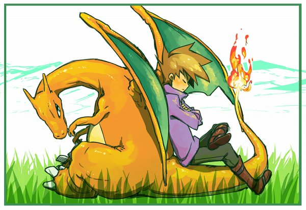 Tags: Anime, Pixiv Id 2250695, Pokémon SPECIAL, Pokémon, Charizard, Green Ookido (Pokémon SPECIAL), Pokémon Adventures