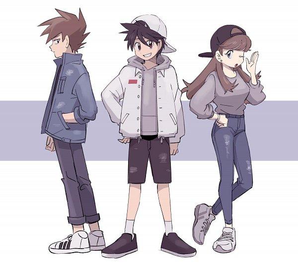 Tags: Anime, Euig, Pokémon SPECIAL, Pokémon, Green Oak (Pokémon SPECIAL), Blue (Pokémon SPECIAL), Red (Pokémon SPECIAL), Pokémon Adventures