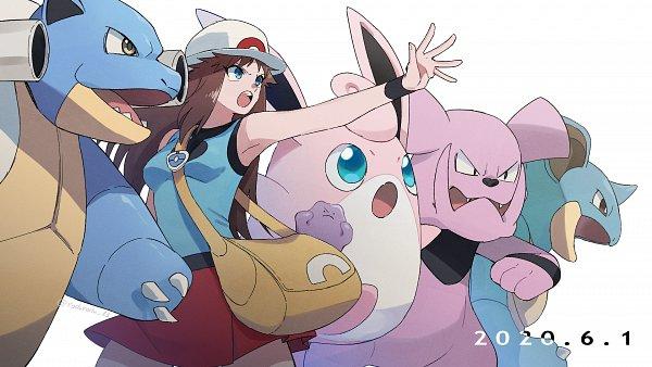 Tags: Anime, Pixiv Id 7565807, Pokémon SPECIAL, Pokémon, Blastoise, Nidoqueen, Granbull, Ditto, Blue (Pokémon SPECIAL), Wigglytuff, Fanart, Pixiv, Wallpaper, Pokémon Adventures