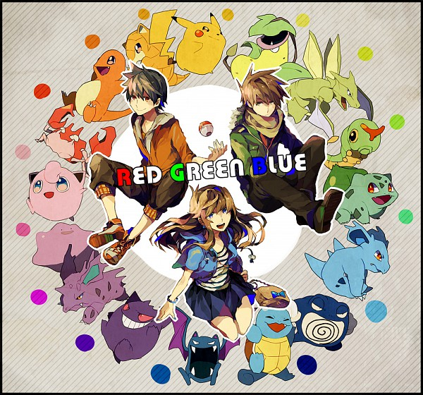 Tags: Anime, Yuuichi Bobobo, Pokémon SPECIAL, Pokémon, Squirtle, Ditto, Blue (Pokémon SPECIAL), Jigglypuff, Nidorina, Pikachu, Victreebel, Red (Pokémon SPECIAL), Poliwrath, Pokémon Adventures