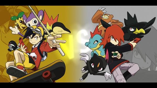 Tags: Anime, Yamamoto Satoshi, Pokémon SPECIAL, Pokémon, Cyndaquil, Poliwag, Ursaring, Silver (Pokémon SPECIAL), Sneasel, Sunkern, Gold (Pokémon SPECIAL), Aipom, Croconaw, Pokémon Adventures