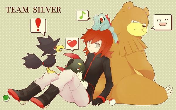 Tags: Anime, Pixiv Id 2561665, Pokémon SPECIAL, Pokémon, Sneasel, Murkrow, Ursaring, Silver (Pokémon SPECIAL), Totodile, Wallpaper, Pixiv, Pokémon Adventures
