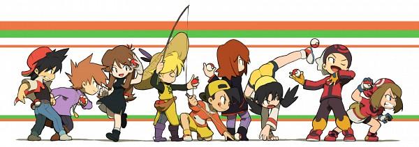 Tags: Anime, Pixiv Id 2250695, Pokémon SPECIAL, Pokémon, Crystal (Pokémon SPECIAL), Yellow (Pokémon Special), Blue (Pokémon SPECIAL), Silver (Pokémon SPECIAL), Red (Pokémon SPECIAL), Gold (Pokémon SPECIAL), Odamaki Sapphire, Ruby (Pokémon SPECIAL), Green Ookido (Pokémon SPECIAL), Pokémon Adventures