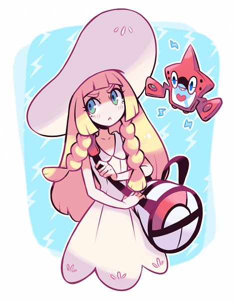 Tags: Anime, Pixiv Id 1077851, Pokémon Sun & Moon, Pokémon, Rotom, Lillie (Pokémon), Rotom Pokedex, Pixiv, Fanart From Pixiv, Fanart, PNG Conversion