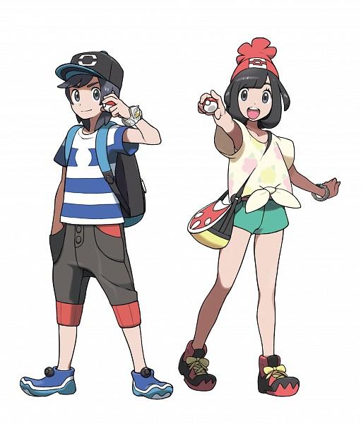 Tags: Anime, Oomura Yusuke, Nintendo, GAME FREAK, Pokémon Sun & Moon, Pokémon, You (Pokémon), Mizuki (Pokémon), Front-tie Top, PNG Conversion, Official Art, Cover Image