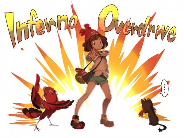 Tags: Anime, Pixiv Id 2362984, Pokémon Sun & Moon, Pokémon, Oricorio, Mizuki (Pokémon), Litten, Pixiv, Fanart, Fanart From Pixiv