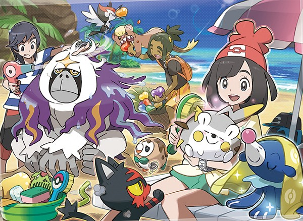 Tags: Anime, Oomura Yusuke, GAME FREAK, Nintendo, Pokémon Sun & Moon, Pokémon, Hau (Pokémon), Rowlet, Oranguru, You (Pokémon), Togedemaru, Mizuki (Pokémon), Yungoos
