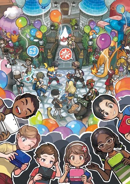 Tags: Anime, Oomura Yusuke, Nintendo, GAME FREAK, Pokémon Sun & Moon, Pokémon, Popplio, Yungoos, Swablu, Litten, Bounsweet, Tauros, Grubbin