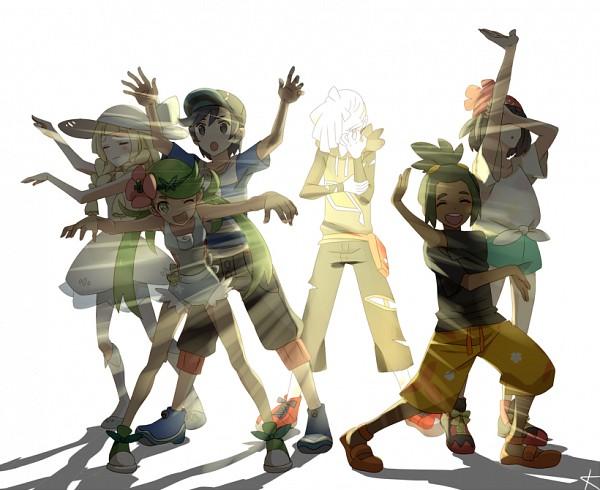 Tags: Anime, Kanade (Pixiv4143060), Pokémon Sun & Moon, Pokémon, Gladion, Mizuki (Pokémon), Mao (Pokémon), Lillie (Pokémon), Hau (Pokémon), You (Pokémon), = =, Pixiv, Fanart From Pixiv