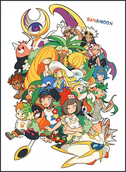 Tags: Anime, Pixiv Id 1481702, Pokémon Sun & Moon, Pokémon, Purumeri, Rowlet, Lillie (Pokémon), Kaki, Golbat, Gladion, You (Pokémon), Mimikyu, Pyukumuku
