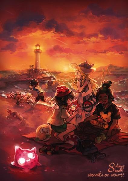 Tags: Anime, ezroseven, Pokémon Sun & Moon, Pokémon, Comfey, Pichu, Mizuki (Pokémon), Rockruff, Rowlet, Lillie (Pokémon), Sandygast, Machamp, Hau (Pokémon)