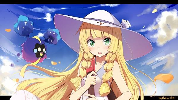 Tags: Anime, Kazenoko, Pokémon Sun & Moon, Pokémon, Cosmog, Lillie (Pokémon), Facebook Cover, Fanart From Pixiv, Wallpaper, PNG Conversion, Fanart, Legendary Pokémon, Pixiv