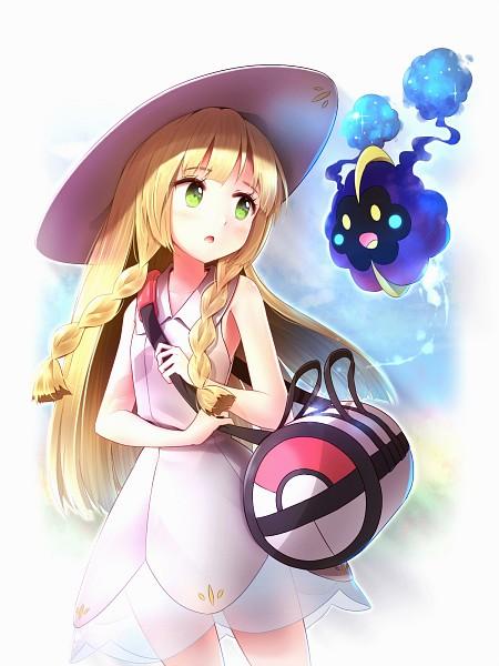 Tags: Anime, minusT, Pokémon Sun & Moon, Pokémon, Cosmog, Lillie (Pokémon), PNG Conversion, Fanart, Legendary Pokémon, Mobile Wallpaper, Pixiv, Fanart From Pixiv