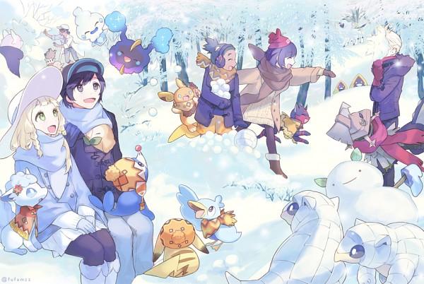 Tags: Anime, Melso, Pokémon Sun & Moon, Pokémon, Snorunt, Popplio, Hau (Pokémon), Absol, Litten, Vanillite, Kukui, Cosmog, Raichu