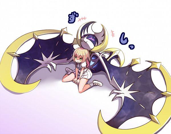 Tags: Anime, Sikei, Pokémon Sun & Moon, Pokémon, Lillie (Pokémon), Lunala, Legendary Pokémon, PNG Conversion