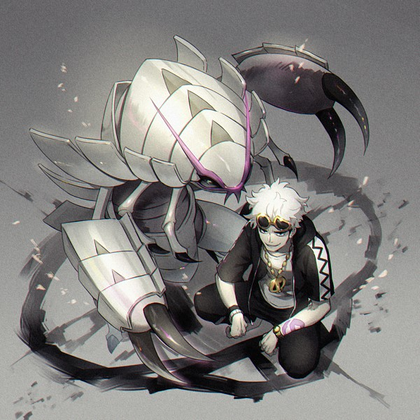 Tags: Anime, Yumecocco, Pokémon Sun & Moon, Pokémon, Guzuma, Golisopod, Pixiv, Fanart, Fanart From Pixiv, PNG Conversion