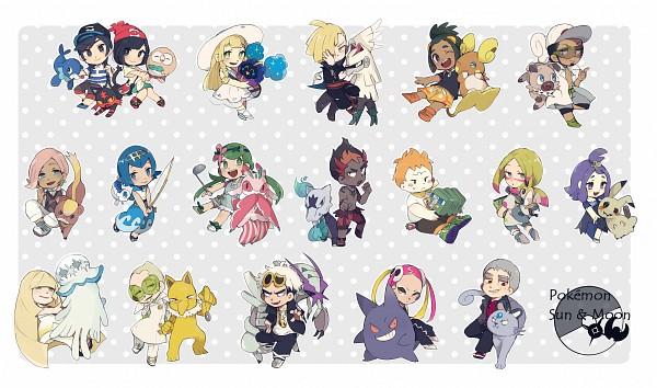 Tags: Anime, Pixiv Id 22215141, Pokémon Sun & Moon, Pokémon, Golisopod, Lillie (Pokémon), Maamane, Popplio, Kuchinashi (Pokémon), Mimikyu, Purumeri, Cosmog, Hau (Pokémon)