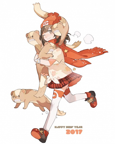 Tags: Anime, STAR Shadow Magician, Pokémon Sun & Moon, Pokémon, Yungoos, Mizuki (Pokémon), PNG Conversion, Fanart, Twitter, Happy 2017