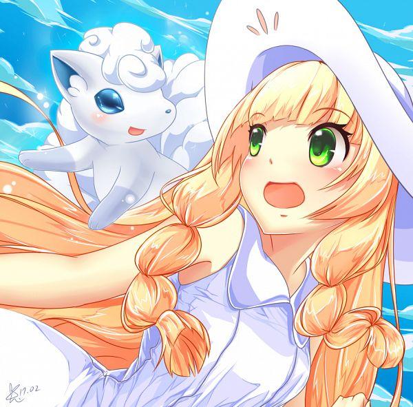 Tags: Anime, Blackrabbit0626, Pokémon Sun & Moon, Pokémon, Vulpix, Lillie (Pokémon), Fanart, Fanart From Pixiv, Alola Form, Pixiv