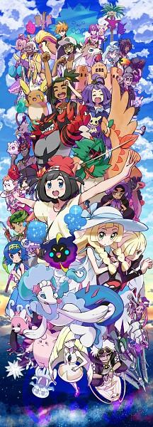 Tags: Anime, Kingin, Pokémon Sun & Moon, Pokémon, Raichu, Crabrawler, Mizuki (Pokémon), Ilma, Togedemaru, Toucannon, Kuchinashi (Pokémon), Exeggutor, Gladion