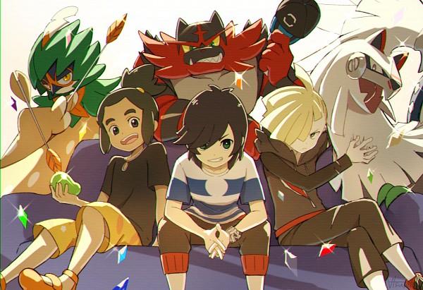 Tags: Anime, Pixiv Id 3226489, Pokémon Sun & Moon, Pokémon, Silvally, Gladion, Hau (Pokémon), Incineroar, You (Pokémon), Decidueye, Fanart From Pixiv, Pixiv, Fanart