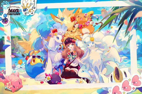 Tags: Anime, Welchino, Pokémon Sun & Moon, Pokémon, Lanturn, Corsola, Solgaleo, Raichu, Primarina, Wingull, Mizuki (Pokémon), Ninetales, Cosmog