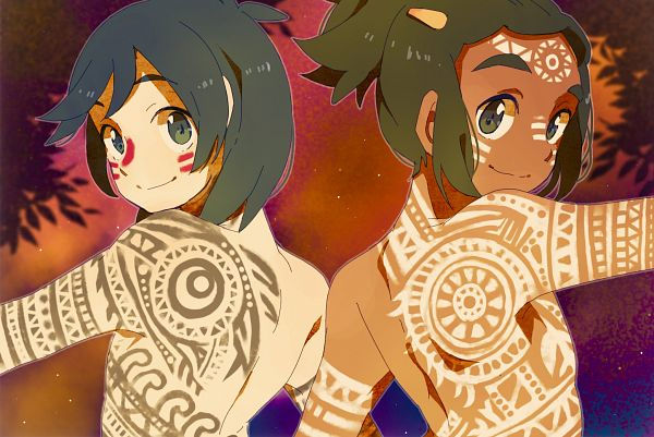 Tags: Anime, Pixiv Id 17428850, Pokémon Sun & Moon, Pokémon, Hau (Pokémon), You (Pokémon), Fanart From Pixiv, Pixiv, Fanart