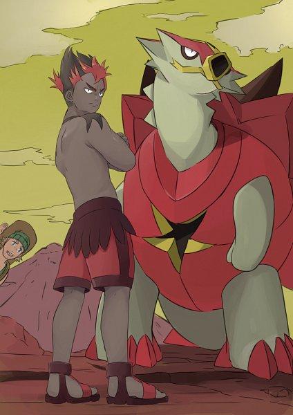 Tags: Anime, Pixiv Id 4015299, Pokémon Sun & Moon, Pokémon, Turtonator, Kaki, Hiker (Pokémon), Trainer Class, Mobile Wallpaper, Fanart From Pixiv, Pixiv, Fanart