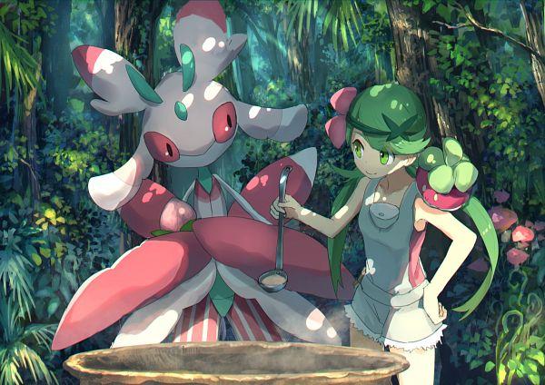 Tags: Anime, Pixiv Id 1922055, Pokémon Sun & Moon, Pokémon, Mao (Pokémon), Lurantis, Bounsweet, Fanart From Pixiv, Pixiv, Fanart