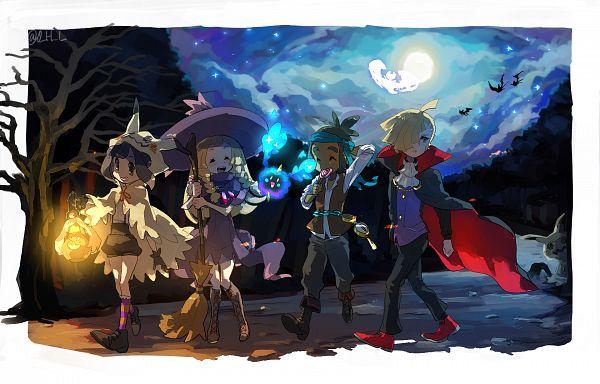 Tags: Anime, Pixiv Id 19832999, Pokémon Sun & Moon, Pokémon, Lunala, Mizuki (Pokémon), Zubat, Mimikyu, Cosmog, Lillie (Pokémon), Gladion, Hau (Pokémon), Mimikkyu (Cosplay)