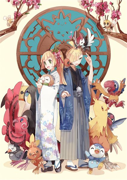 Tags: Anime, Pixiv Id 842378, Pokémon Sun & Moon, Pokémon, Torchic, Rowlet, Oricorio, Combusken, Fletchling, Toucannon, Archen, Cutiefly, Piplup