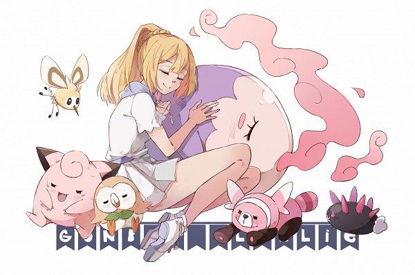 Tags: Anime, Pixiv Id 3126529, Pokémon Sun & Moon, Pokémon, Musharna, Lillie (Pokémon), Clefairy, Rowlet, Pyukumuku, Stufful, Cutiefly, Pixiv, Fanart From Pixiv