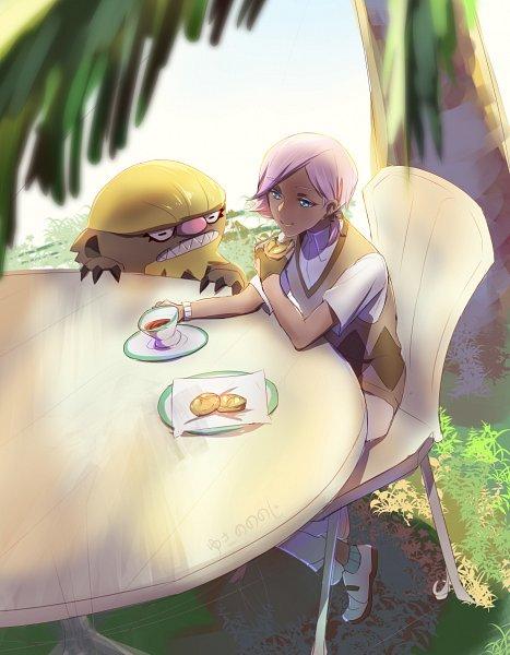 Tags: Anime, Pixiv Id 1046595, Pokémon Sun & Moon, Pokémon, Ilma, Gumshoos, Fanart From Pixiv, Pixiv, Fanart