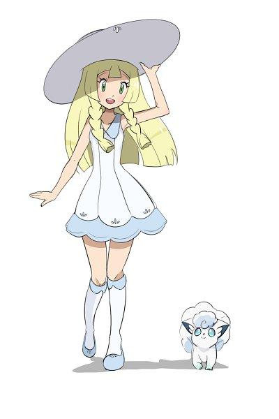 Tags: Anime, Pixiv Id 5560287, Pokémon Sun & Moon, Pokémon, Lillie (Pokémon), Vulpix, Alolan Vulpix, Pixiv, Fanart, Fanart From Pixiv