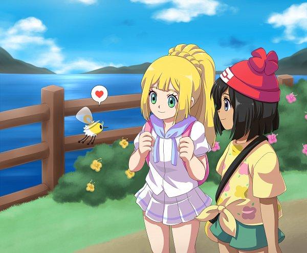 Tags: Anime, Pixiv Id 700295, Pokémon Sun & Moon, Pokémon, Cutiefly, Lillie (Pokémon), Mizuki (Pokémon), Pixiv, Fanart, Fanart From Pixiv