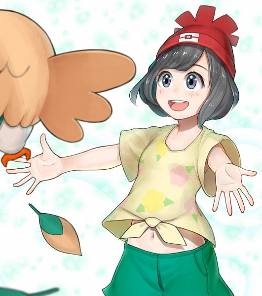 Tags: Anime, Pixiv Id 3403329, Pokémon Sun & Moon, Pokémon, Mizuki (Pokémon), Rowlet