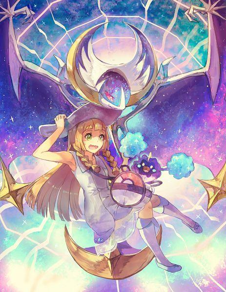 Tags: Anime, Pixiv Id 635157, Pokémon Sun & Moon, Pokémon Ultra Sun & Moon, Pokémon, Cosmog, Lillie (Pokémon), Lunala, Wavy Mouth, Legendary Pokémon