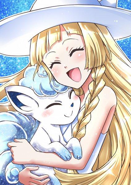 Tags: Anime, Pixiv Id 2726249, Pokémon Sun & Moon, Pokémon, Lillie (Pokémon), Vulpix, Alolan Vulpix, Pixiv, Fanart, Fanart From Pixiv