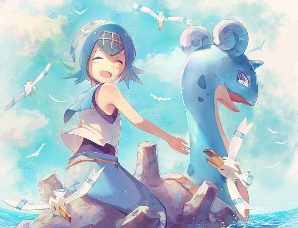 Tags: Anime, Pixiv Id 635157, Pokémon Sun & Moon, Pokémon, Suiren (Pokémon), Wingull, Lapras