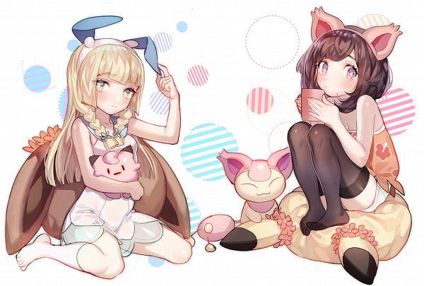Tags: Anime, Pixiv Id 2312918, Pokémon Sun & Moon, Pokémon, Lillie (Pokémon), Mizuki (Pokémon), Skitty, Skitty (Cosplay), Pokémon (Cosplay), Minun (Cosplay)