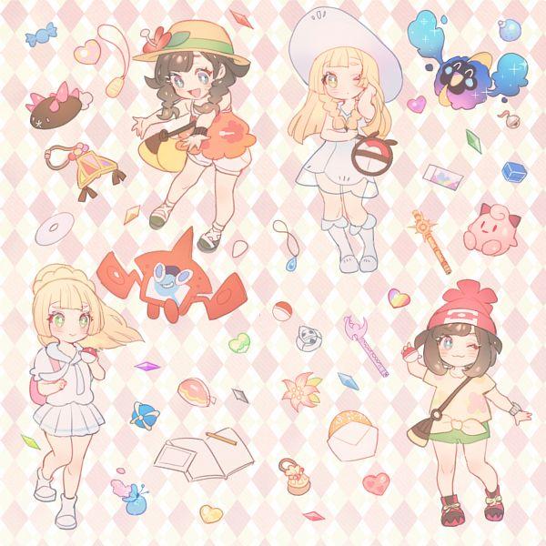 Tags: Anime, Pixiv Id 2312918, Pokémon Sun & Moon, Pokémon Ultra Sun & Moon, Pokémon, Clefairy, Cosmog, Pyukumuku, Cleffa, Lillie (Pokémon), Rotom, Female Protagonist (Pokémon Ultra Sun/Moon), Mizuki (Pokémon)