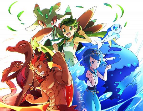 Tags: Anime, Pixiv Id 17757208, Pokémon Sun & Moon, Pokémon, Suiren (Pokémon), Kaki, Mao (Pokémon), Pixiv