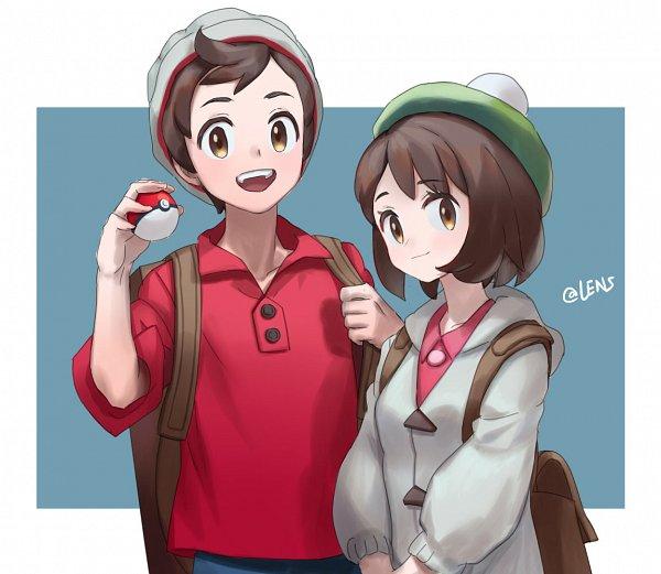 Tags: Anime, Pixiv Id 6994501, Pokémon Sword & Shield, Pokémon, Male Protagonist (Pokémon Sword & Shield), Female Protagonist (Pokémon Sword & Shield), Pixiv, Fanart, Fanart From Pixiv