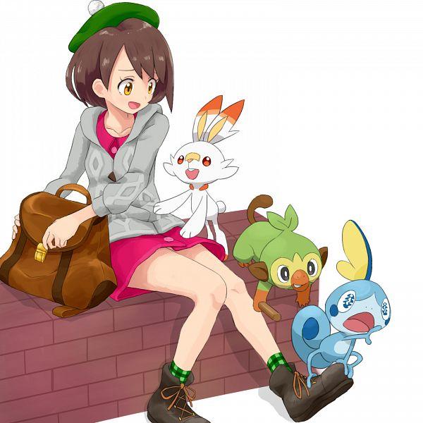 Tags: Anime, Pixiv Id 18448, Pokémon Sword & Shield, Pokémon, Scorbunny, Female Protagonist (Pokémon Sword & Shield), Sobble, Grookey