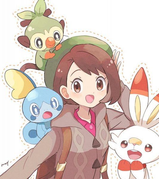 Tags: Anime, May3104, Pokémon Sword & Shield, Pokémon, Grookey, Scorbunny, Female Protagonist (Pokémon Sword & Shield), Sobble